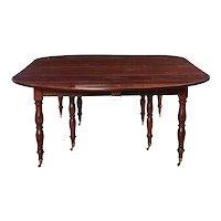 Fine French 18th Century Mahogany Extending Drop-Leaf Dining Table