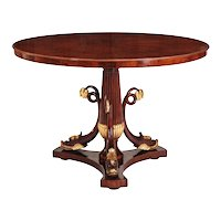 Italian Mahogany and Parcel Gilt Center Table