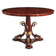 Italian Mahogany and Parcel Gilt Center Table