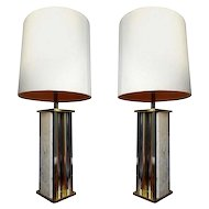 Pair Big Table Lamps by Gaetano Sciolari
