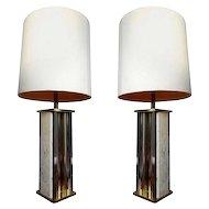 Pair Big Table Lamps by Gaetano Sciolari