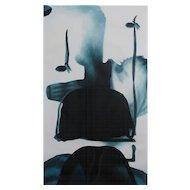 Taeko Mima  - Cosmic Dust 55 - oil on canvas (1990)