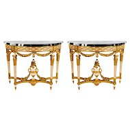 Pair of Nord Italian 18' century Console Tables