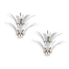"Pair of Chandeliers Vistosi ""Palms"" 1970"