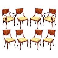 Set of North Italian Walnut Chairs