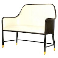 Josef Hoffmann Leather Bench