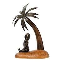 """""""African Child under Palm Tree"""" by Hagenauer Werkstätte"""