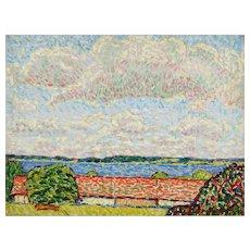 """Seelandschaft mit hohem Himmel"", Oil Paint by Hans Michaelson"