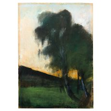 "Pastel ""Landscap with Birch Trees"" by Lesser Ury"