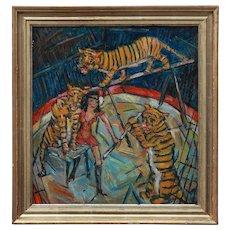 """""""Tiger Training"""" by Heinrich Richter-Berlin"""