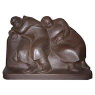 """Sculpture """"Schlaffende Vagabunden"""" ( Sleeping Drifters )"""