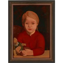 """1920s Portrait """"Child With Doll"""""""