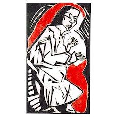 """Liegende"" ( Reclining Woman ) by Erich Heckel"