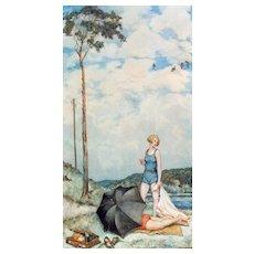 """Sommer an der Havel"" ( Summer On The River Havel ) by Hans Baluschek"