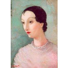 "Oil on Canvas ""L' Espagnole"" by Dietz Edzard"
