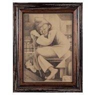 """""""Der eingeschlaffene Bettler"""" ( The Sleeping Beggar ) by Hans Brass"""