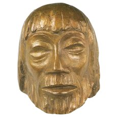 Bronze Christ Mask VI by Ernst Barlach