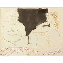""""""" Le Peintre et Son Modéle """" ( Painter and Model ), Lithograph by Pablo Picasso"""