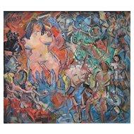 """Striptease in a Berlin Bar"" by Heinrich Richter-Berlin"