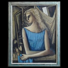 """""""Mädchen am Fenster"""" ( A Girl at the Window ) by Horst Strempel"""