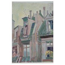 """Walter Wellenstein """"Pariser Dächer"""" ( Roofs in Paris ), 1960"""
