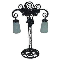 Art Nouveau Table Lamp by Daum