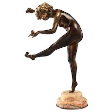 """Bronze """"The Juggler"""" by Claire Jeanne Roberte Colinet"""