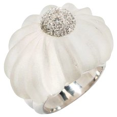 Rock Crystal Ring with Diamonds