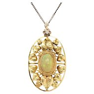 Art Nouveau Opal Pendant by John Zerano