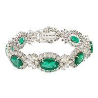 An Important Emerald and Diamond Bracelet