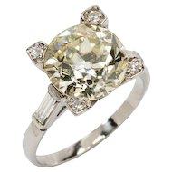 Gorgeous Art Deco Diamond Platinum Ring