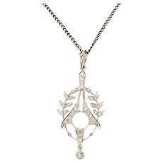 Art Deco Diamond Gold Pendant