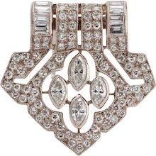 Art Deco Diamond Gold Pin