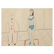 """Cirque"", Colour Lithograph by Pablo Picasso"