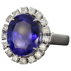 Tanzanite and Diamond Cocktail Ring