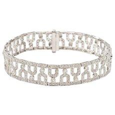 Art Deco Diamond and White Gold Bracelet