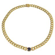 Gold Collier with Sapphire Cabochon