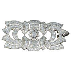Art Deco Diamond Gold Brooch/Pendant