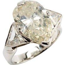 Teardrop Diamond Platinum Engagement Ring