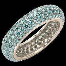 1980s Diamond Band Ring