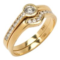 Twin Diamond Gold Rings