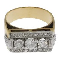Art Deco Diamond Gold Ring