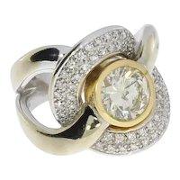 Diamond White and Yellow Gold Ring