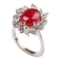 Ruby Diamond 18 Carat Gold Ring