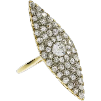 Marquise Diamond Gold Ring