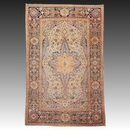 19th c. Mohtasham Kashan Collectors Rug