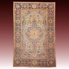 19th c. Mohtasham Kashan Collectors Rug