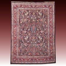 Antique Mashad All Over Design Persian Rug