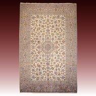 Light colored persian Kashan carpet