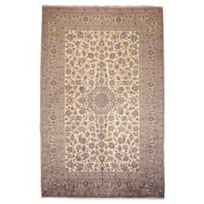 Light colored persian Kashan carpet